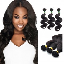 22/24/26 Inches Body Wave Natural Black Virgin Brazilian Hair
