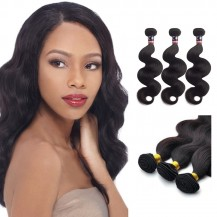 12 Inches*3 Body Wave Natural Black Virgin Malaysian Hair