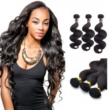 18/20/22 Inches Body Wave Natural Black Virgin Malaysian Hair