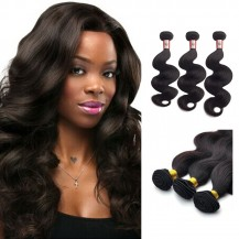 18/20/22 Inches Body Wave Natural Black Virgin Peruvian Hair