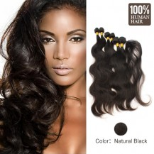 6 set bundle #1B Body Wave Indian Remy Hair Wefts 16/18/20 Inches