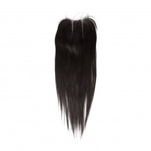 12 Inches Straight Natural Black Free Parted Indian Remy Lace Closure