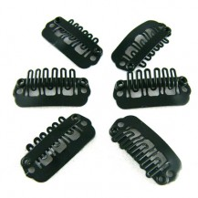 40pcs 24mm Black Clips for hair extensions
