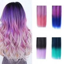 Free gift -Ombre Colorful Clip in Hair Wavy 1 pc Randomly sent