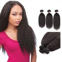 10/12/14 Inches Kinky Straight Natural Black Virgin Peruvian Hair