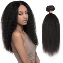 16 Inches Kinky Straight Natural Black Virgin Peruvian Hair