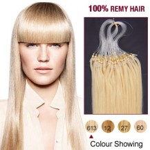 "20"" Bleach Blonde(#613) 100S Micro Loop Remy Human Hair Extensions"