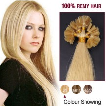 "20"" Ash Blonde(#24) 100S Nail Tip Remy Human Hair Extensions"