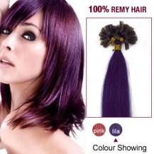 """22"""" Lila 100S Nail Tip Human Hair Extensions"""