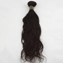 "22"" Dark Brown(#2) Natural Wave Indian Remy Hair Wefts"