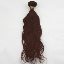 "16"" Dark Auburn(#33) Natural Wave Indian Remy Hair Wefts"