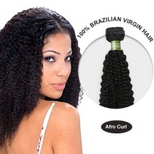 14 Inches Afro Curl Brazilian Virgin Hair Wefts