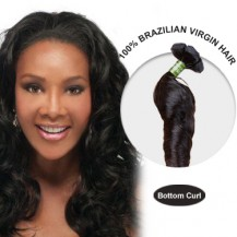 16 Inches Bottom Curl Brazilian Virgin Hair Wefts