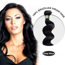 28 Inches Deep Wave Brazilian Virgin Hair Wefts