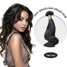 16 Inches Fab Curl Brazilian Virgin Hair Wefts