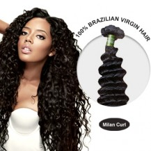 16 Inches Milan Curl Brazilian Virgin Hair Wefts