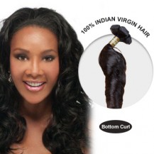 16 Inches Bottom Curl Indian Virgin Hair Wefts
