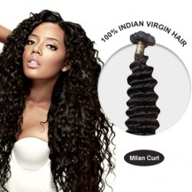 22 Inches Milan Curl Indian Virgin Hair Wefts