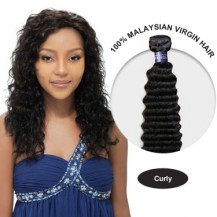 18 Inches Curly Malaysian Virgin Hair Wefts
