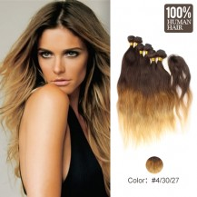6 set bundle #4/30/27 Ombre Natural Wave Indian Remy Hair Wefts 16/18/20 Inches