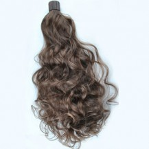 Iron Sheet Roll Wavy Short Ponytail Ash Brown 1 Piece