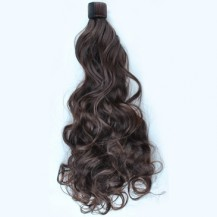 Iron Sheet Roll Wavy Short Ponytail Dark Brown 1 Piece