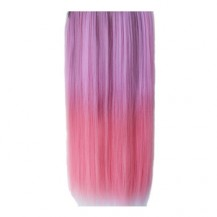 Ombre Colorful Clip in Hair Straight 02# Rosy/Purple 1 Piece