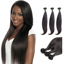 16 Inches*3 Straight Natural Black Virgin Brazilian Hair