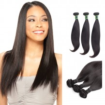 18/20/22 Inches Straight Natural Black Virgin Brazilian Hair