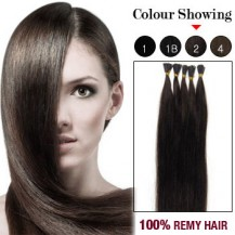 "20"" Dark Brown(#2) 100S Stick Tip Remy Human Hair Extensions"