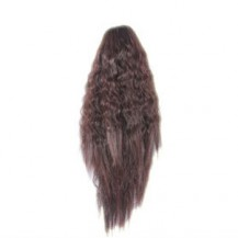 Claw Clip Corn Hot Roll Ponytail Deep Chestnut Brown 1 Piece